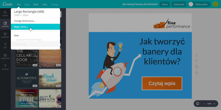 canva resizing