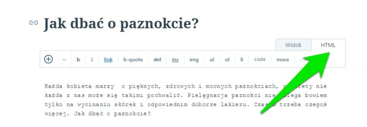 wordpress.com widok html