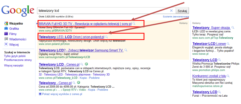 adwords adres url