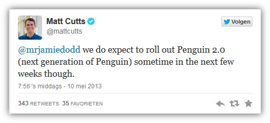 Matt Cutts google twitt